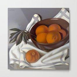Still Life with Tangerines portrait by Tamara de Lempicka Metal Print
