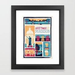 Greetings from Madison Framed Art Print
