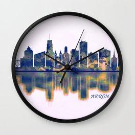 Akron Skyline Wall Clock