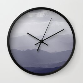 Indigo Mountains Wall Clock