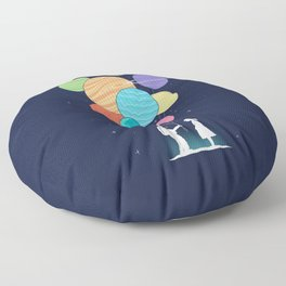 You are my universe Floor Pillow
