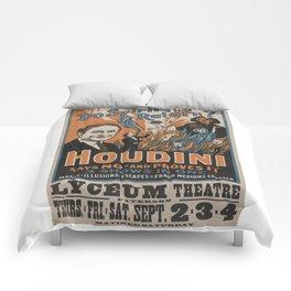 Houdini - vintage poster, spirits Comforters