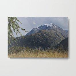 Alpine Mountain Landscape Metal Print
