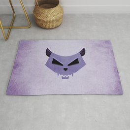 Purple Evil Cat Skull Rug