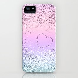 Sparkling UNICORN Girls Glitter Heart #1 #shiny #pastel #decor #art #society6 iPhone Case