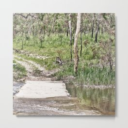 Rustic water crossing Metal Print
