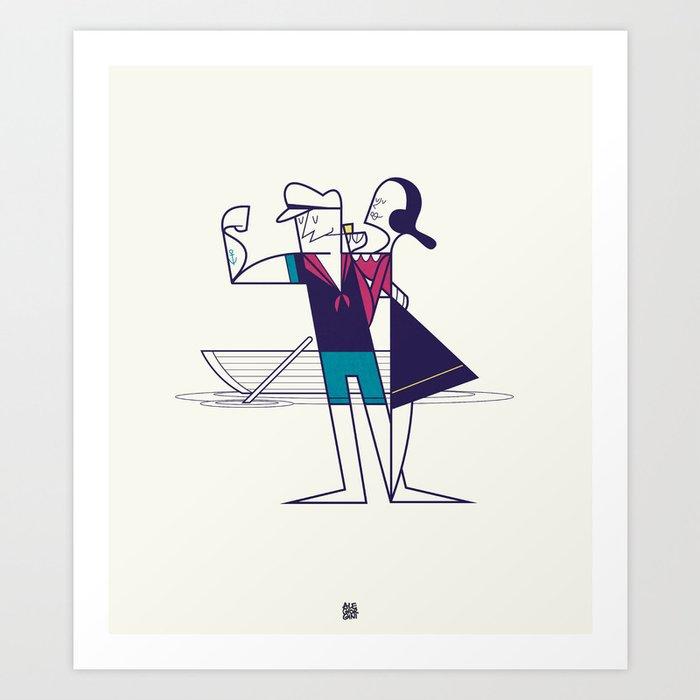 We will sail away Art Print