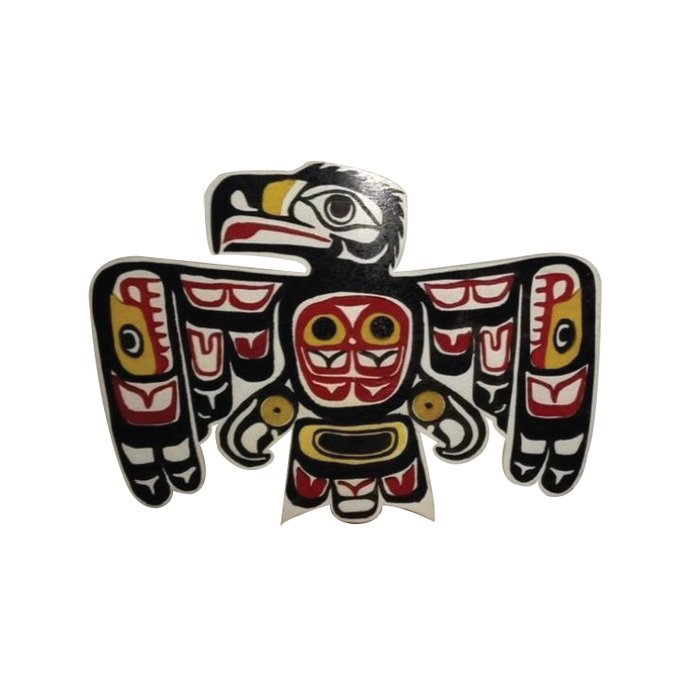 Northwest Pasific American Native Totem Cut In Wood No. 6 Duvet Cover