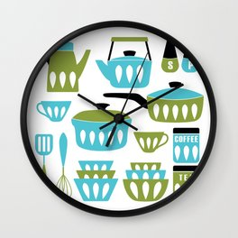 My Midcentury Modern Kitchen In Aqua And Avocado Wall Clock