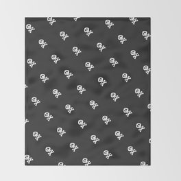 Skulls and bones Throw Blanket