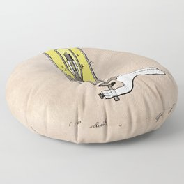 patent - Edison - Electric Lights - 1880 Floor Pillow