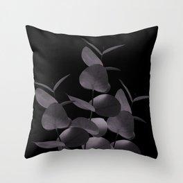 Eucalyptus Leaves Black Black #1 #foliage #decor #art #society6 Throw Pillow