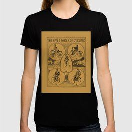 The five stages of cycling (bicycle history) T-shirt