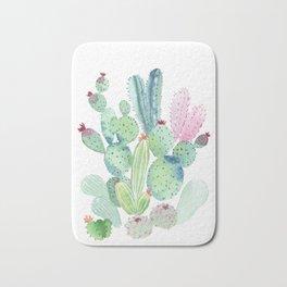Watercolor Cactus light Bath Mat