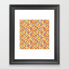 Funny Polkas-Yellow and orange Framed Art Print