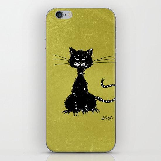 Ragged Evil Black Cat iPhone & iPod Skin