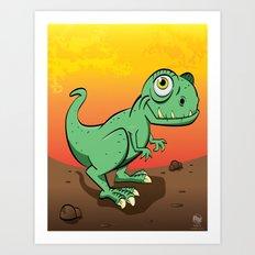 Baby T-Rex Art Print