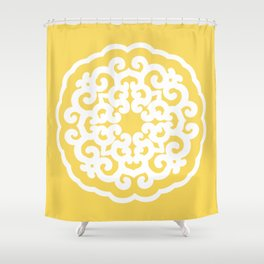 Pale Yellow Asian Moods Mandalla Shower Curtain
