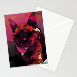 Pink and Orange Lava Cat Stationery Cards