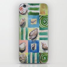 Shell and stripes iPhone & iPod Skin