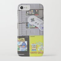 nintendo iPhone & iPod Cases featuring Super Nintendo by Kelsey Spinn