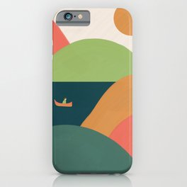 Landscape with boat  iPhone Case