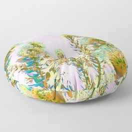 Modern Protea Pale Pink Colorway Floor Pillow
