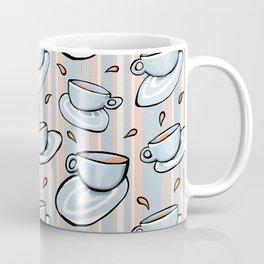 Cups Medley Blue Stripes Coffee Mug