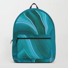 Agate sea green texture Backpack
