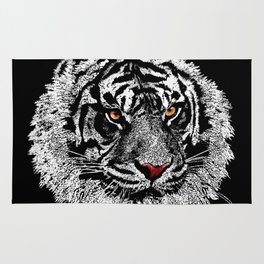white tiger iPhone 4 4s 5 5c 6 7, pillow case, mugs and tshirt Rug