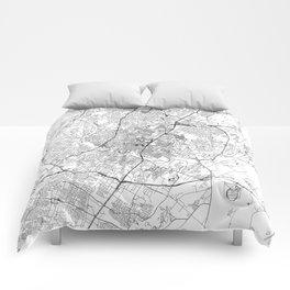 Austin White Map Comforters