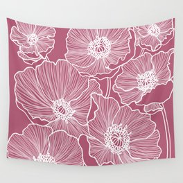 Lipstick Poppies Wall Tapestry