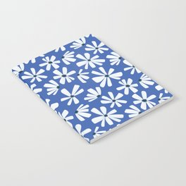 Retro Blooms Blue Notebook