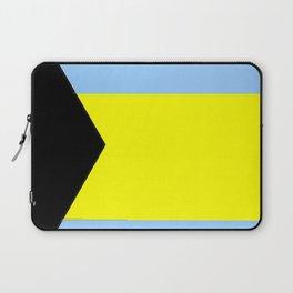 flag of Bahamas 2– Nassau,Bahamian,Bahamianese,Junkanoo,Regattas Laptop Sleeve