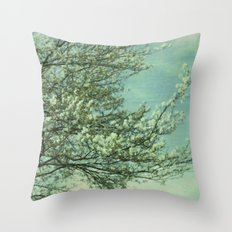 Today before the Gray Throw Pillow
