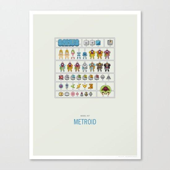 Metroid Model Kit Canvas Print