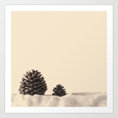 Twi Pinecones Art Print