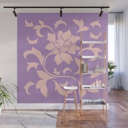 Oriental Flower - Strawberry Lilac Wall Mural