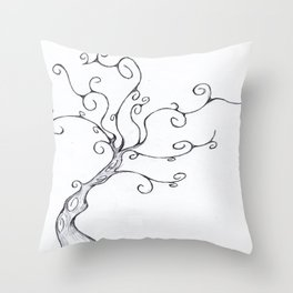 Burton Tree Throw Pillow