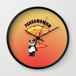 PANDAMONIUM Wall Clock