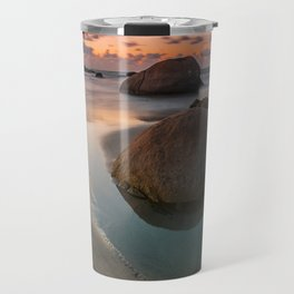 The rock that smiles Travel Mug