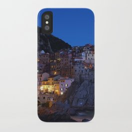 Cinque Terre Italy at night iPhone Case