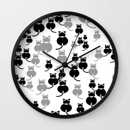 Fat Cats 1 Wall Clock