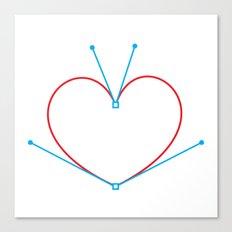 Bezier Love Canvas Print