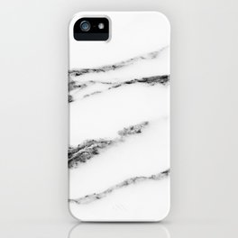 Marble (White) iPhone Case