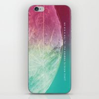 carl sagan iPhone & iPod Skins featuring Interstellar Moon Voyager of the Cosmos with Sagan Quote by Randy S