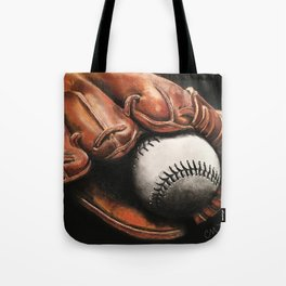 Baseball and Glove Tote Bag