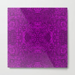 Purple lace flowers and doves Metal Print