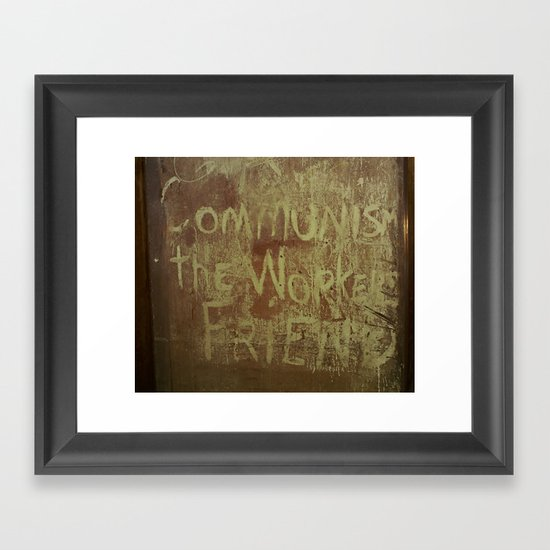 The Worker's Friend Framed Art Print