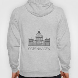 Marble Church Copenhagen Denmark Black and White Hoody